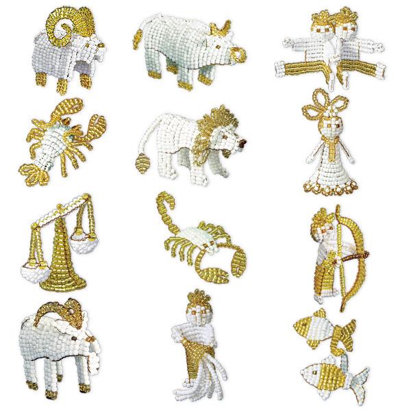 Знаки зодиака из бисера и схемы