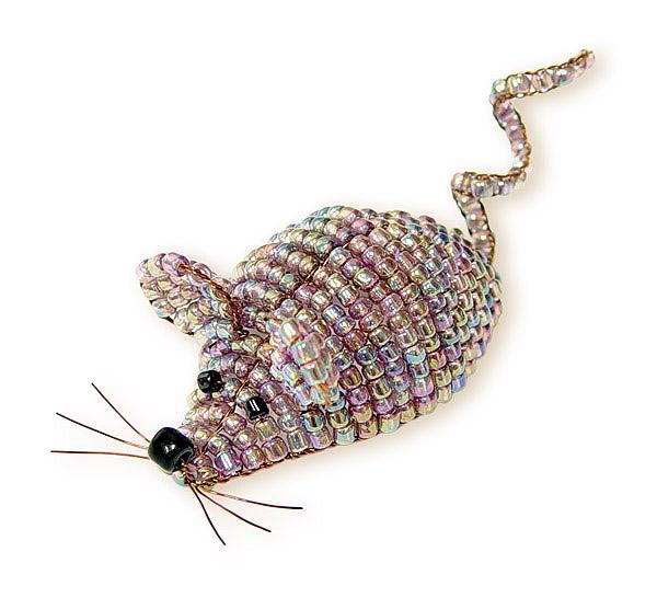 Мишки из бисера пошаговое