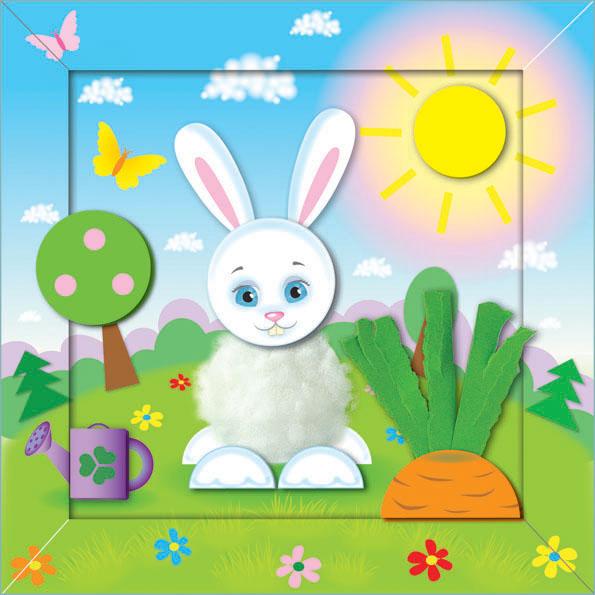 Аппликация для зайца